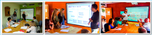 Learn Spanish in Spain with new technologies in classroom - Digital Whiteboards for easy language earning